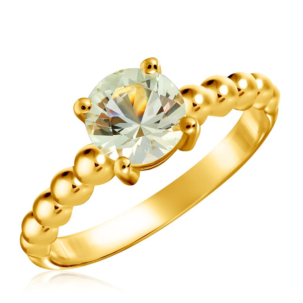 Кольцо из золота 01К337533Кольца из желтого золота<br>Артикул: 01К337533 Металл: Золото Au 585 Вставка: Кварц<br><br>Артикул: 01К337533<br>Металл, проба: Золото<br>Цвет металла: Желтый<br>Вставка: Кварц