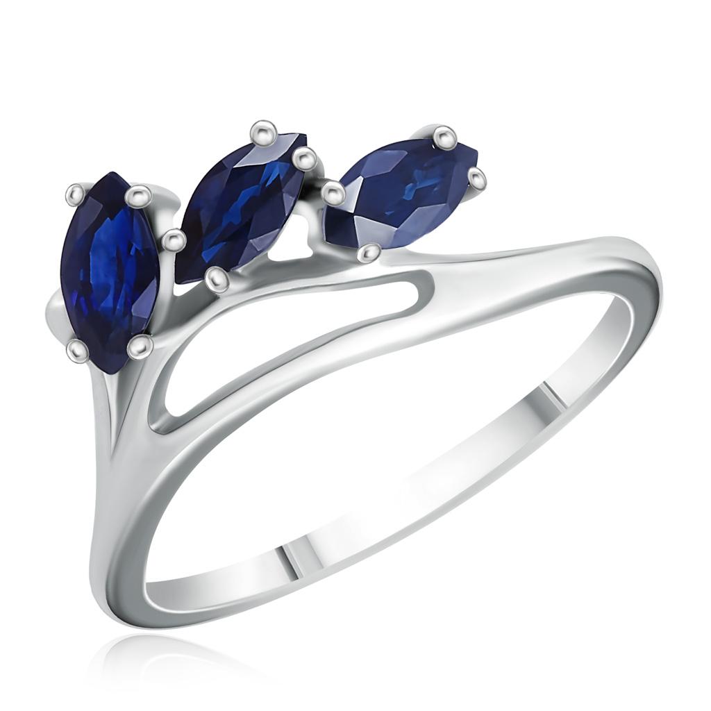 Золотое кольцо с сапфирами 25063
