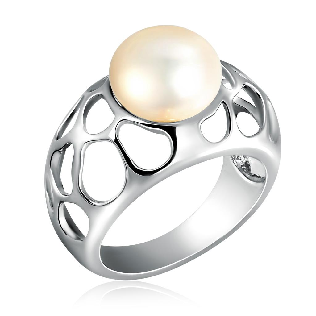Кольцо из серебра S85612037Кольца из серебра<br>Артикул: S85612037 Металл: Серебро Ag 925 Вставка: Жемчуг<br><br>Артикул: S85612037<br>Металл, проба: Серебро<br>Цвет металла: Родированный<br>Вставка: Жемчуг