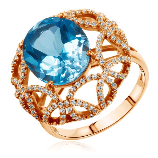 Золотое кольцо с топазом 713251Кольца из красного золота<br>Артикул: 713251 Металл: Золото Au 585 Вставка: Топаз<br><br>Артикул: 713251<br>Металл, проба: Золото<br>Цвет металла: Красный<br>Вставка: Топаз