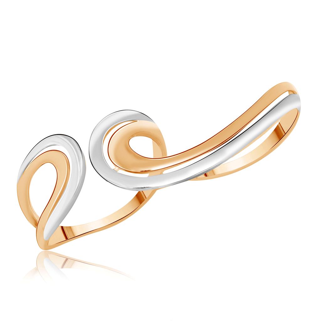 Золотое кольцо на два пальца Д0268-017077 caviar jewellery кольцо на два пальца true love