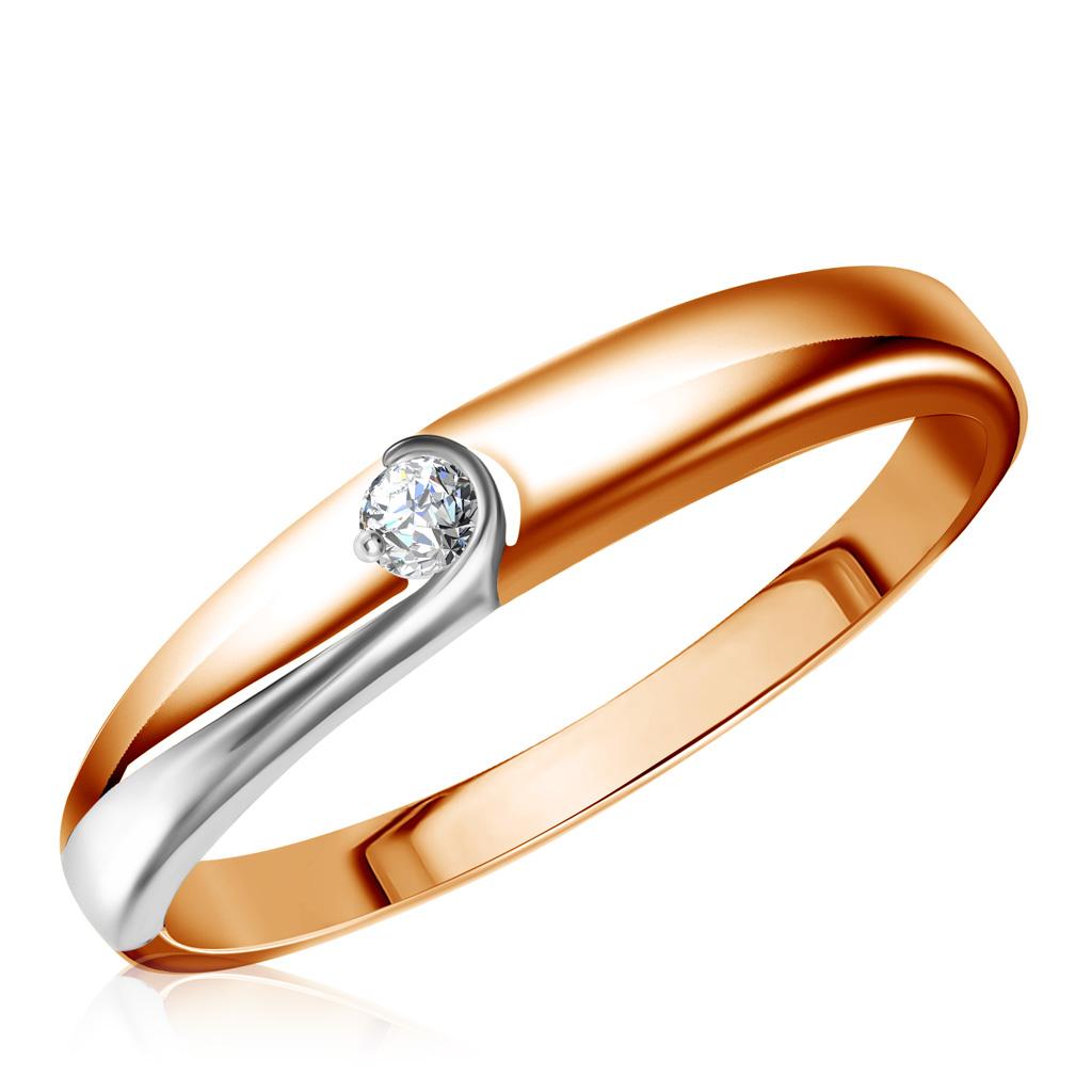 Кольцо из золота 1011370Кольца из красного золота<br>Артикул: 1011370 Металл: Золото Au 585 Вставка: Бриллиант<br><br>Артикул: 1011370<br>Металл, проба: Золото<br>Цвет металла: Красный<br>Вставка: Бриллиант