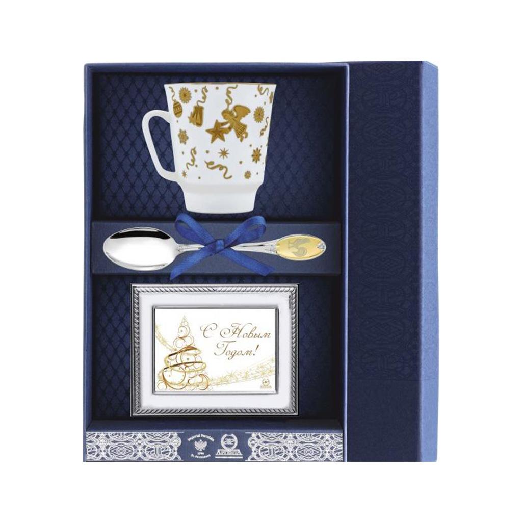 Набор чайный из серебра 059Ф03 столовое серебро аргента набор чайный сад византия 3 предмета футляр