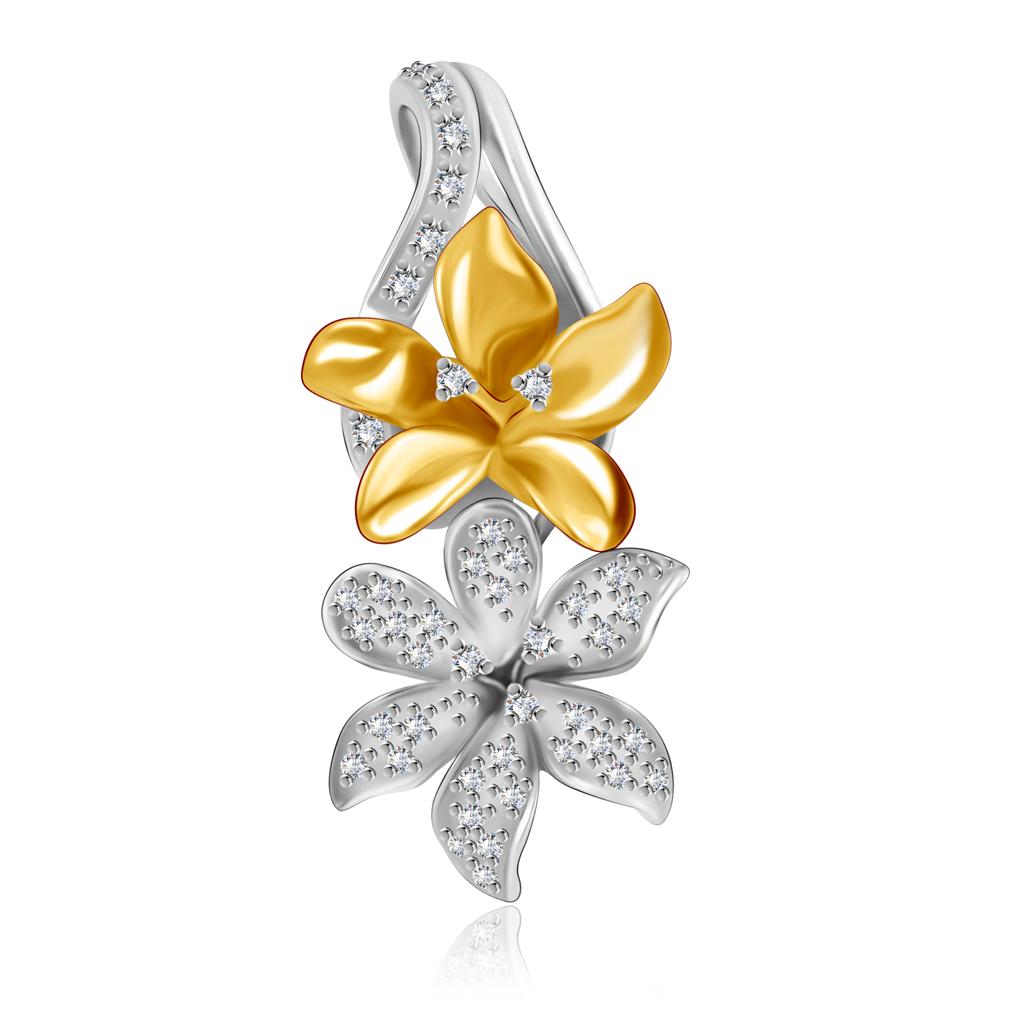 Подвеска Цветы из золота со скидкой