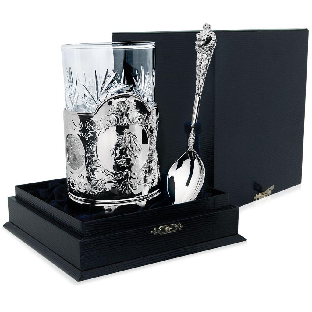 Чайный набор из серебра 107НБ03801