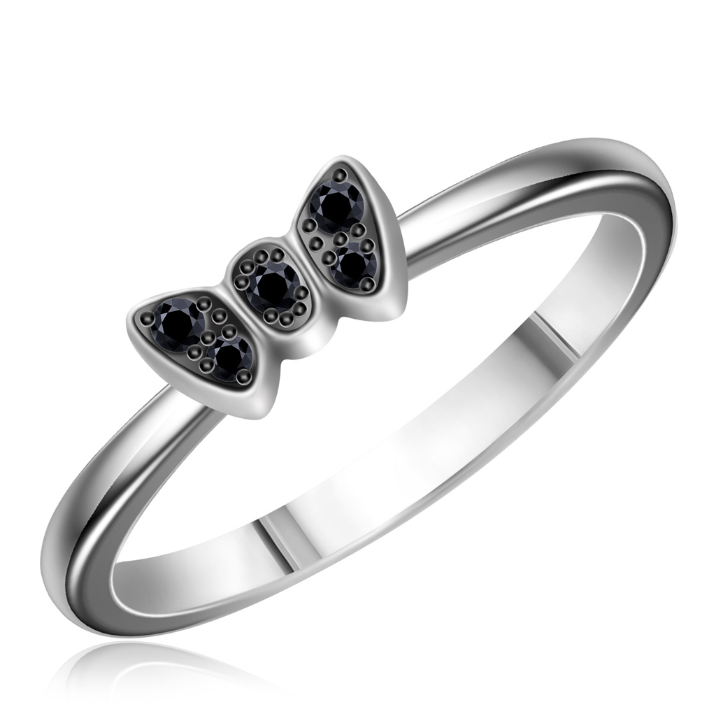 Кольцо из белого золота с бриллиантами K113071K
