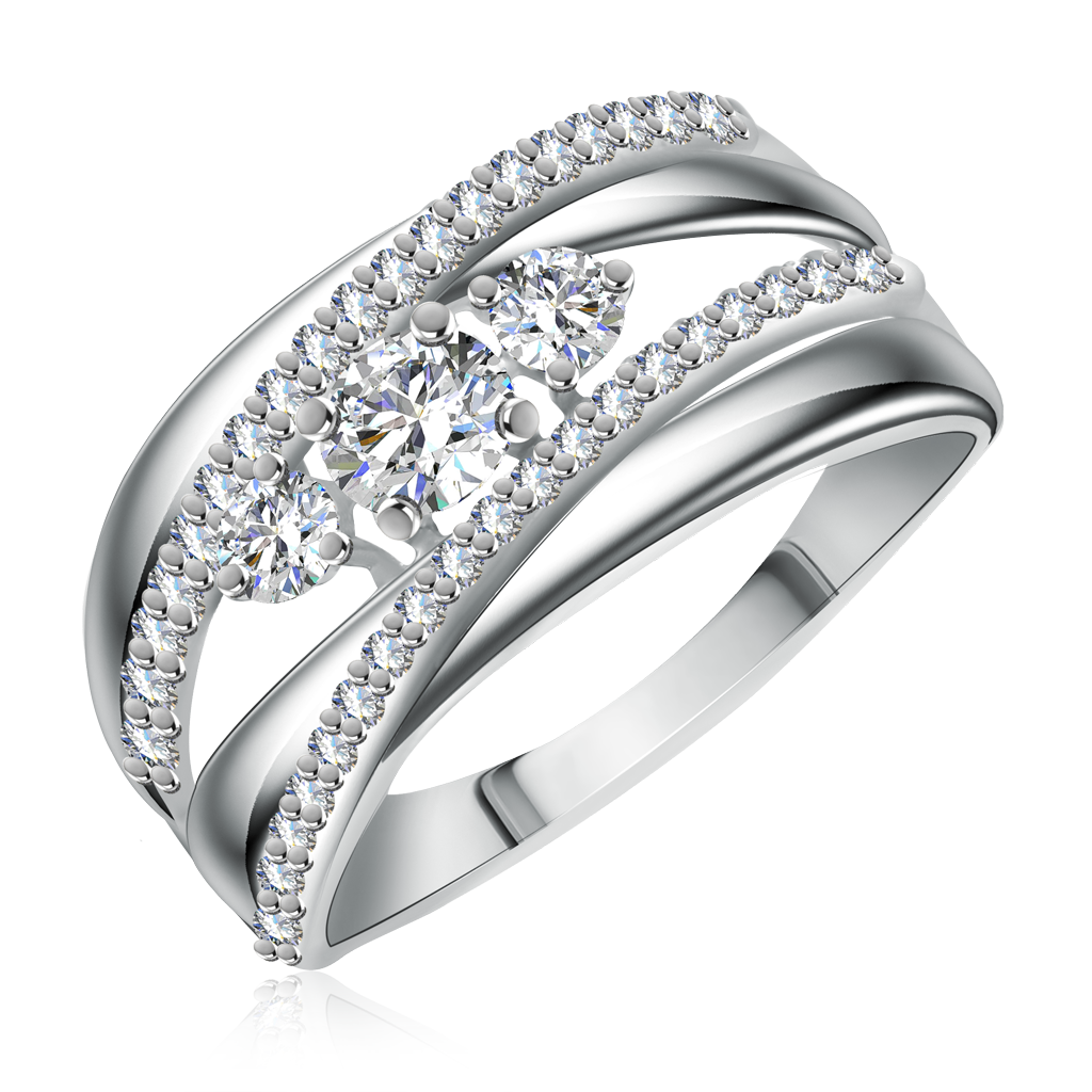 Кольцо из серебра 94011975