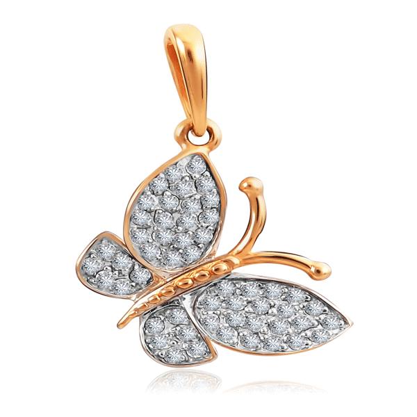 Кулон с бриллиантами из золота Бабочка RD0000011007000 женский кулон soul diamonds золотой кулон с бриллиантами buhk 8280 14ky