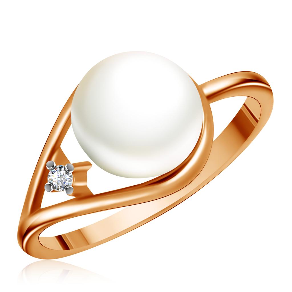 Фото - Кольцо из золота с жемчугом и фианитом 25612051 браслет из золота с жемчугом и фианитом