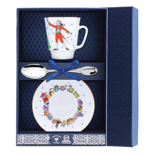 Чайный набор из 3-х приборов 024Ф03 столовое серебро аргента набор чайный сад византия 3 предмета футляр