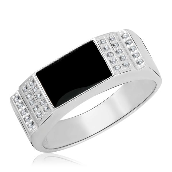 Кольцо мужское из серебра 94011390