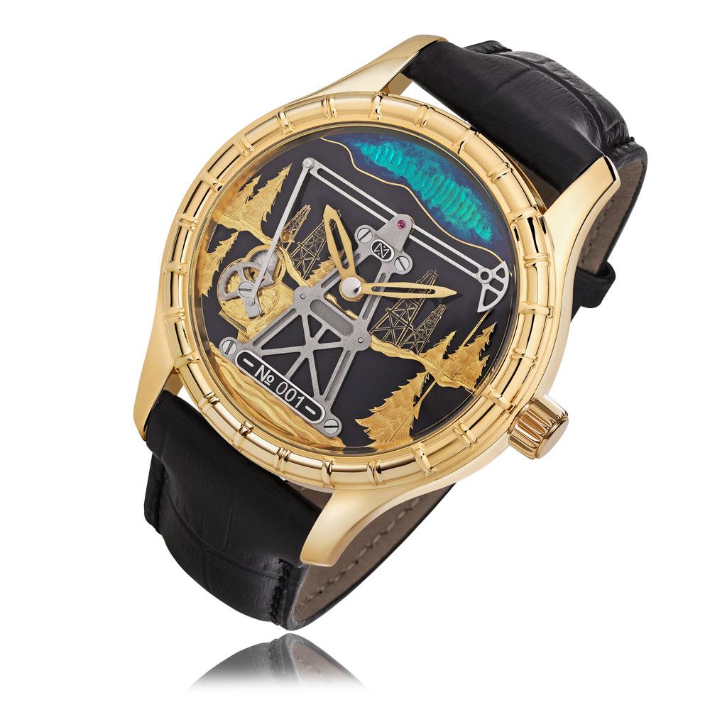 Часы мужские НИКА из золота 1165.0.3.01EG