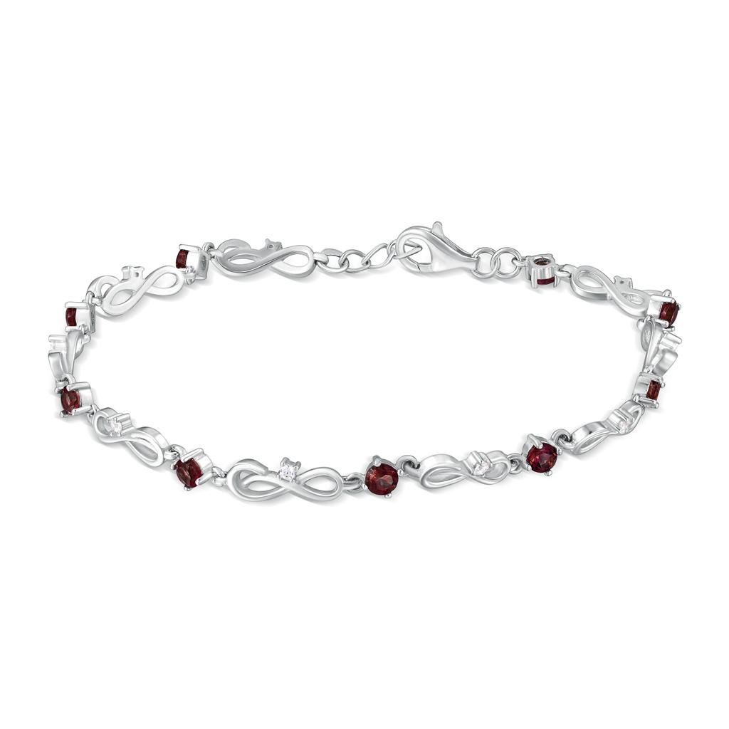Браслет декоративный из серебра B-DRGR00860-GR