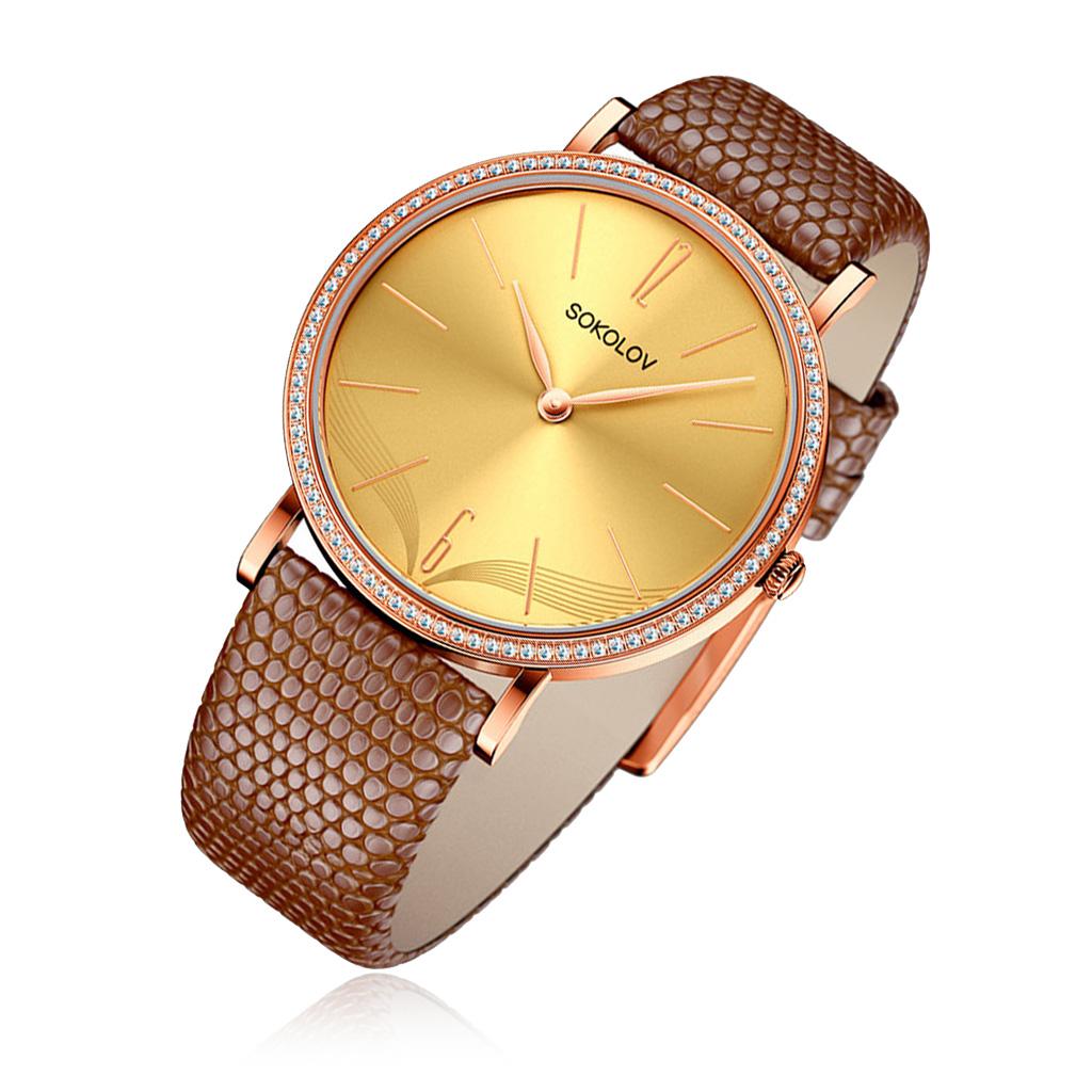 цена Часы женские SOKOLOV из золота 210.01.00.001.07.03.2 онлайн в 2017 году