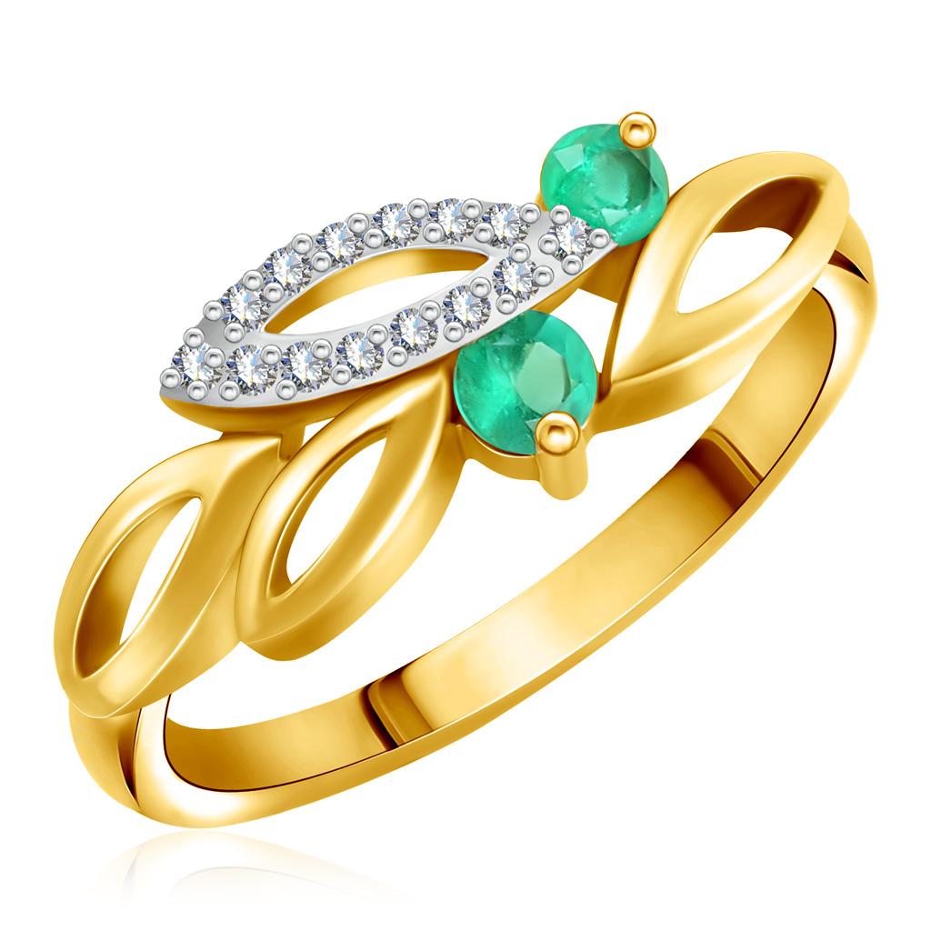 Золотое кольцо с гранатом и фианитами 712762