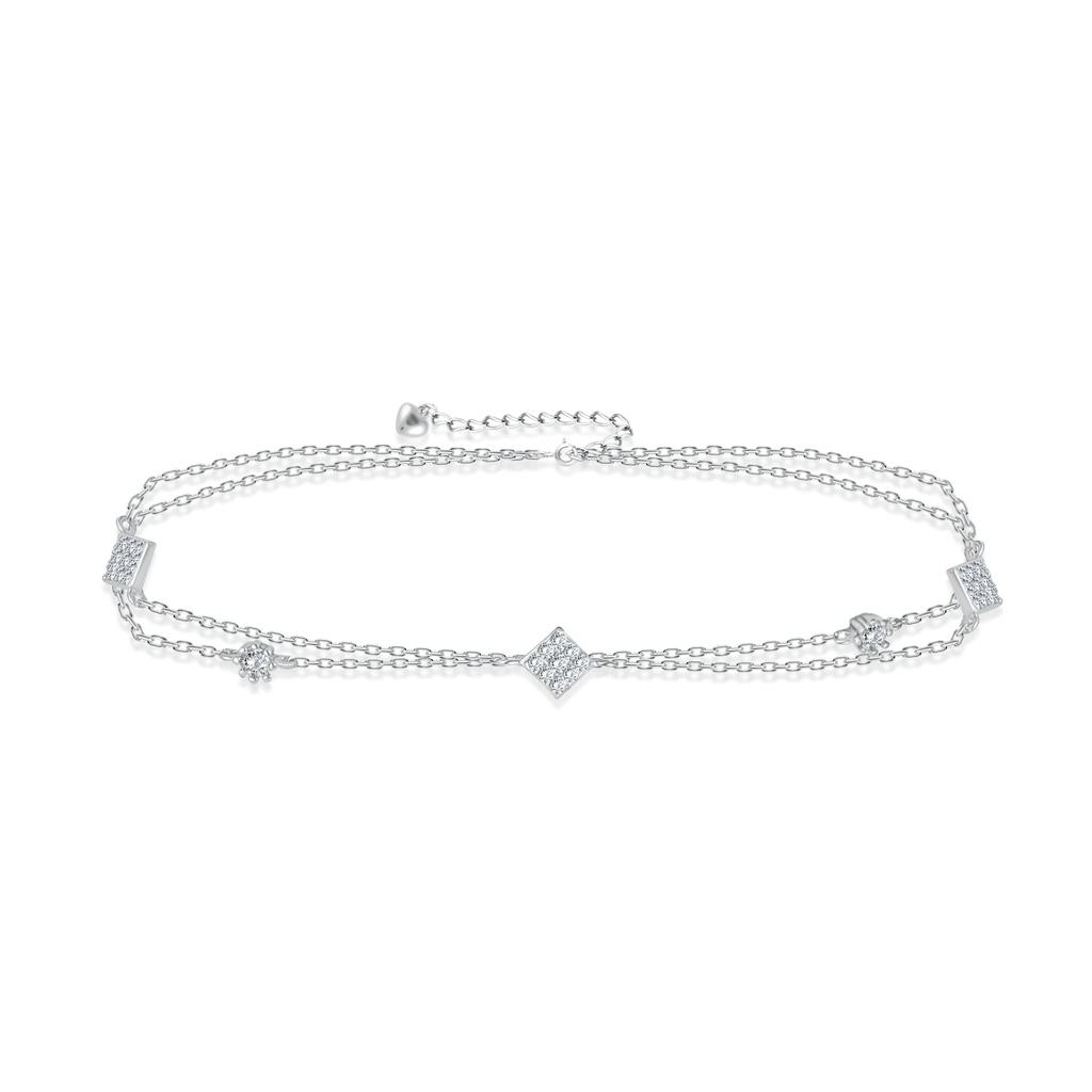 Браслет на ногу декоративный из серебра F3RC0404 кристал лодыжку цепи браслет браслет ногу сандал пляж женских украшений