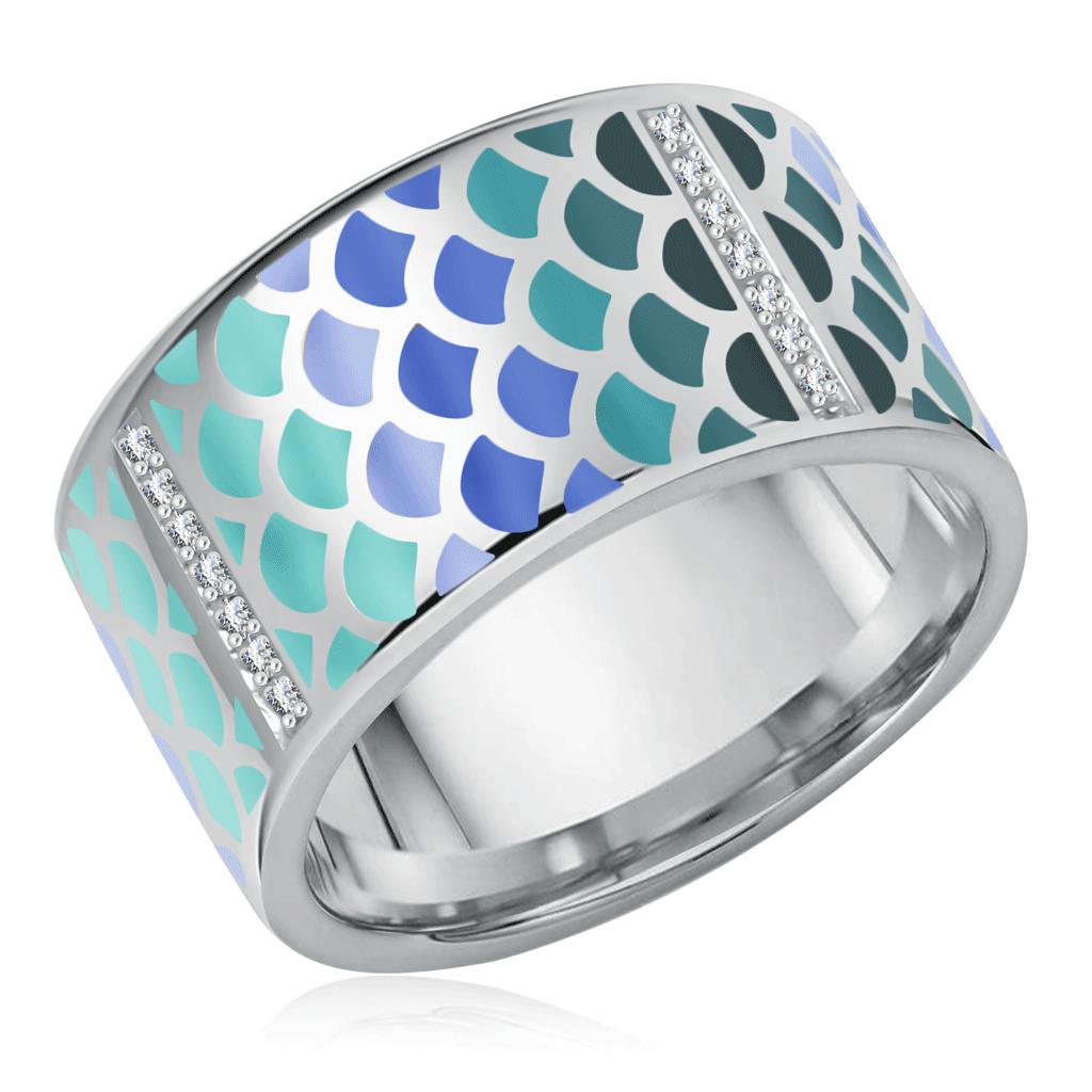 Кольцо из серебра 01-0255/ЭМ17-00 жен платье арт 16 0255 василек р 48
