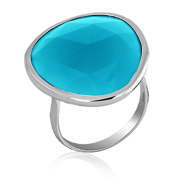 Кольцо из серебра с халцедоном S8561R052