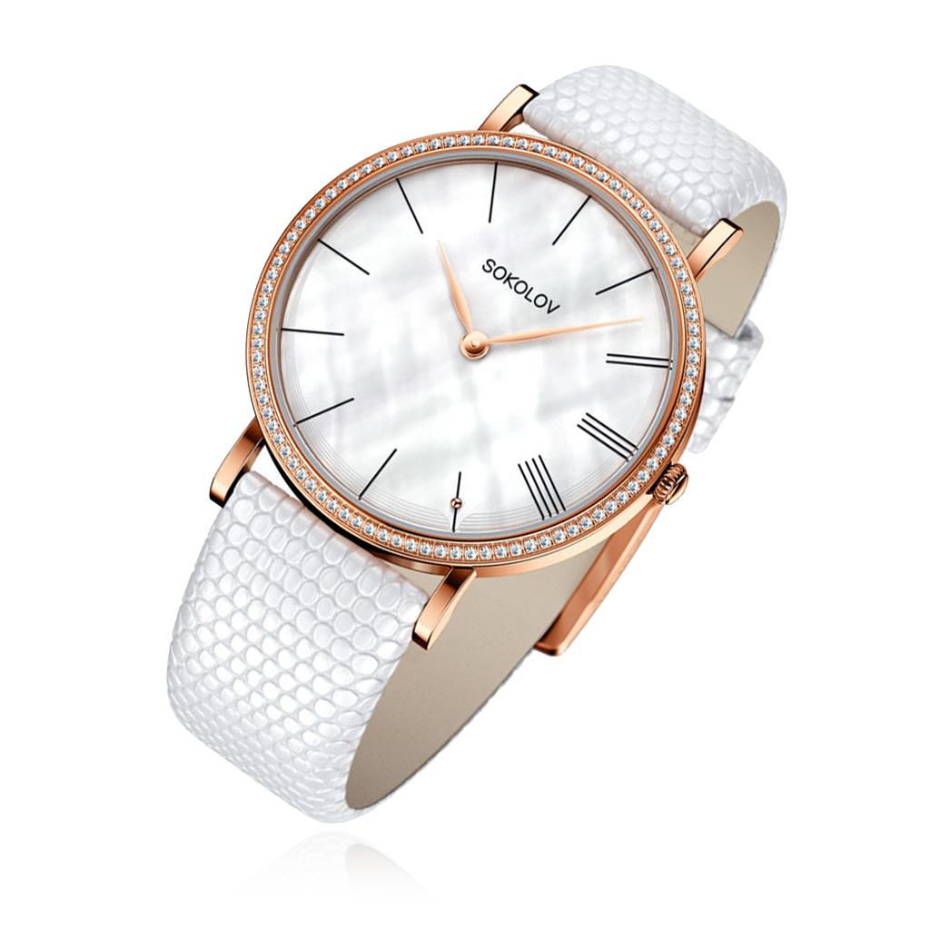 цена Часы женские SOKOLOV из золота 210.01.00.001.02.02.2 онлайн в 2017 году