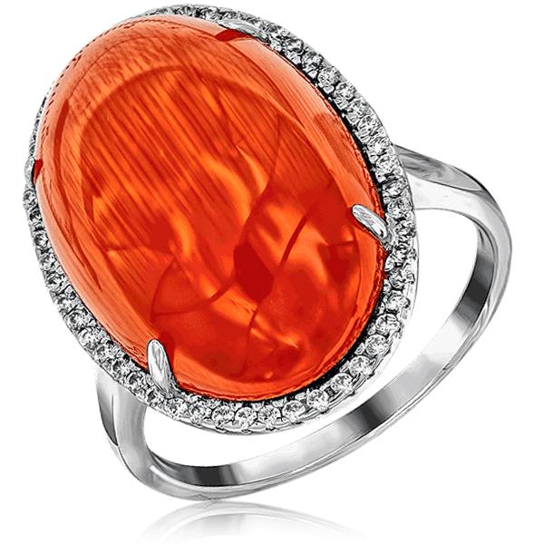 Серебряное кольцо с кошачьим глазом синт S85615049 серьги с кошачьим глазом лель снкг 1719