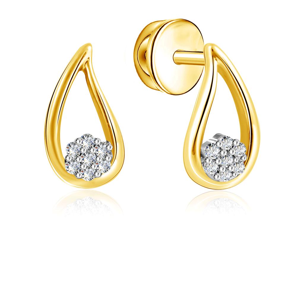 Купить Серьги-пусеты из золота с бриллиантами SUE13551