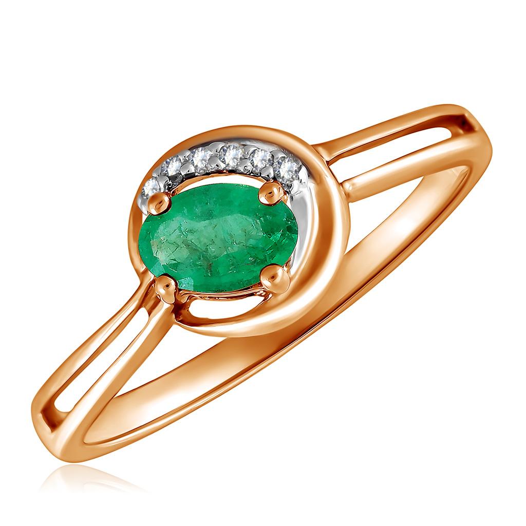 Кольцо с изумрудом золотое К10616и кольцо с изумрудом золотое к10616и