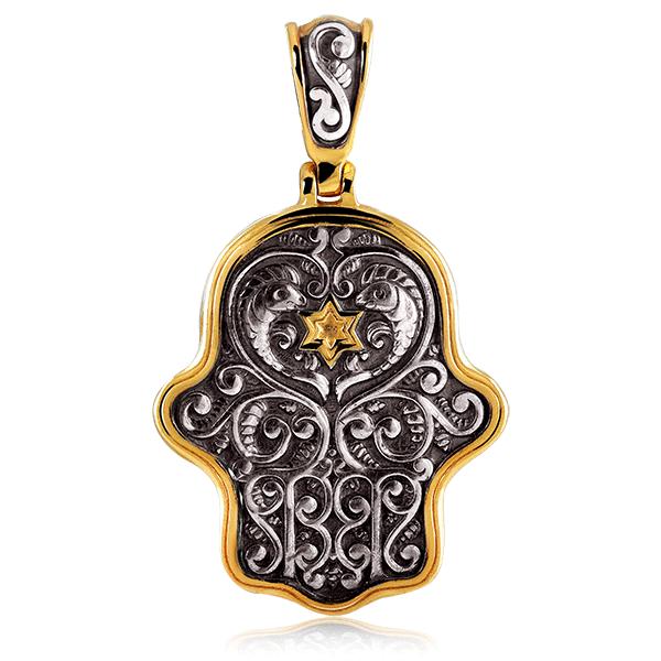 Купить со скидкой Подвеска иудейская из серебра с золочением 4803056