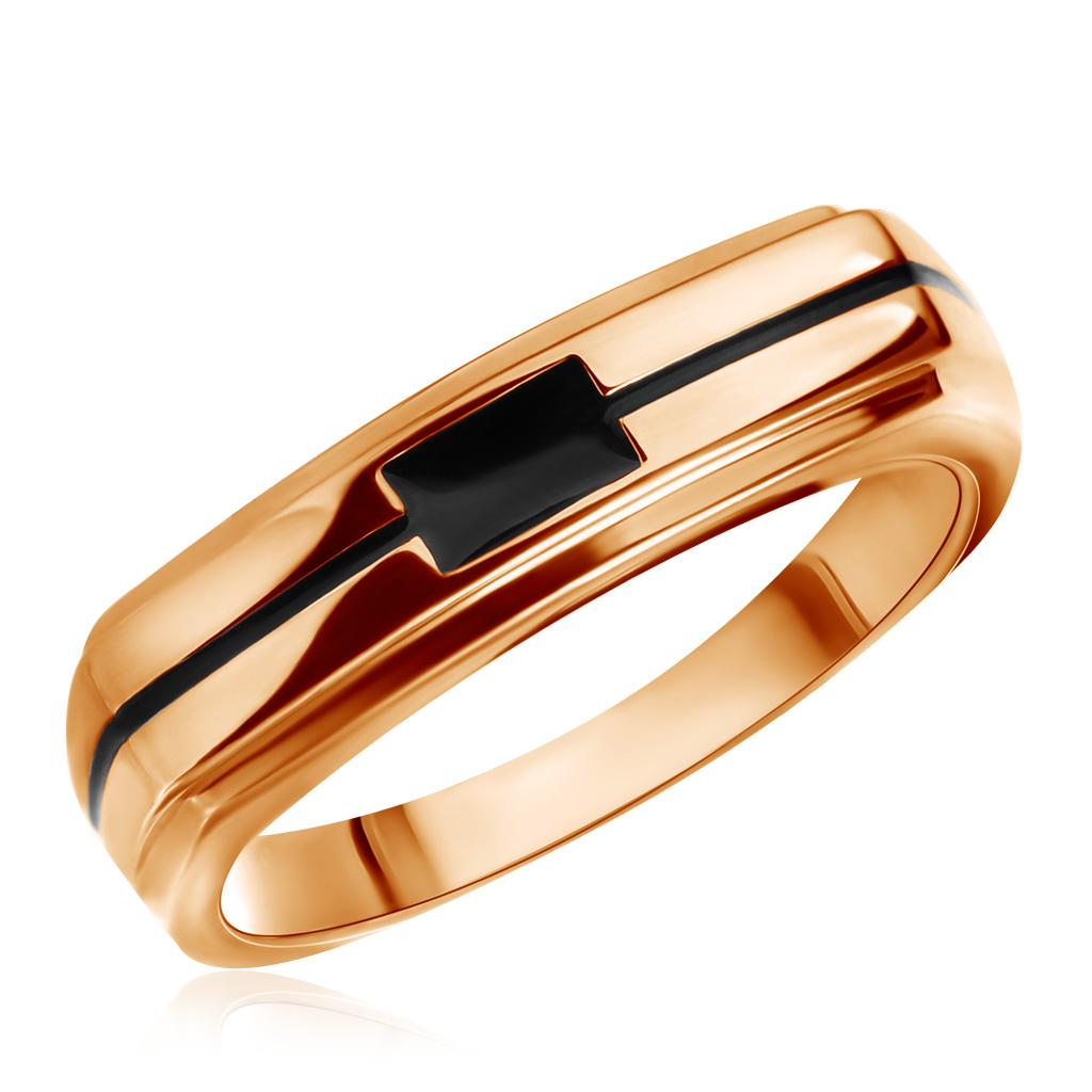 Мужское кольцо из красного золота с эмалью Ф7157-1-4096Кольца из красного золота<br>Артикул: Ф7157-1-4096 Металл: Золото Au 585 Вставка: Эмаль<br><br>Артикул: Ф7157-1-4096<br>Металл, проба: Золото<br>Цвет металла: Красный<br>Вставка: Эмаль