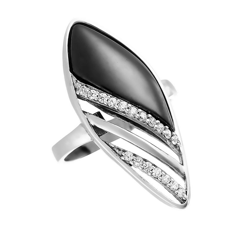 Кольцо из серебра TC-R00032-B-W-X-X-W