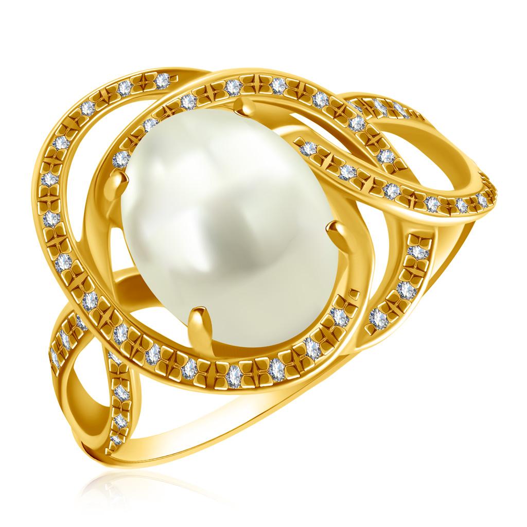 Купить Кольцо из желтого золота с бриллиантами, кварцем LR956