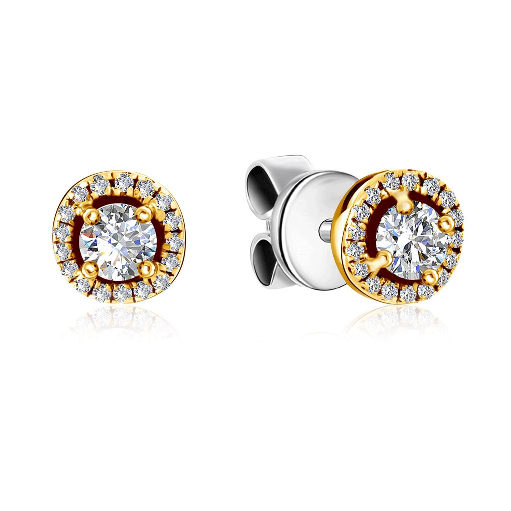 Купить Серьги-пусеты из красного золота с бриллиантами EJE8562