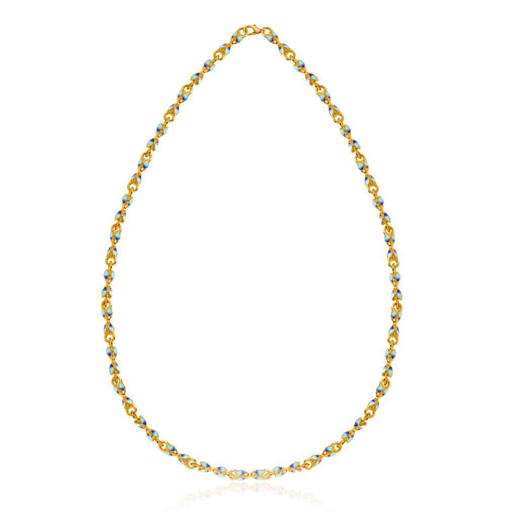 Цепь православная из серебра позолоченная 04.086 позолоченная цепочка ручной вязки