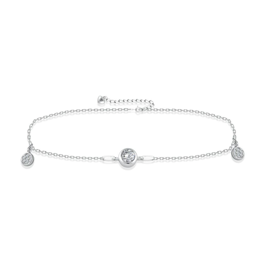 Браслет на ногу декоративный из серебра F3RC2985 кристал лодыжку цепи браслет браслет ногу сандал пляж женских украшений