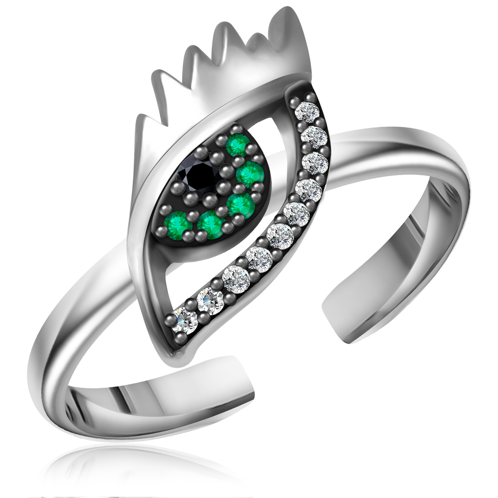 Кольцо из серебра 85611062