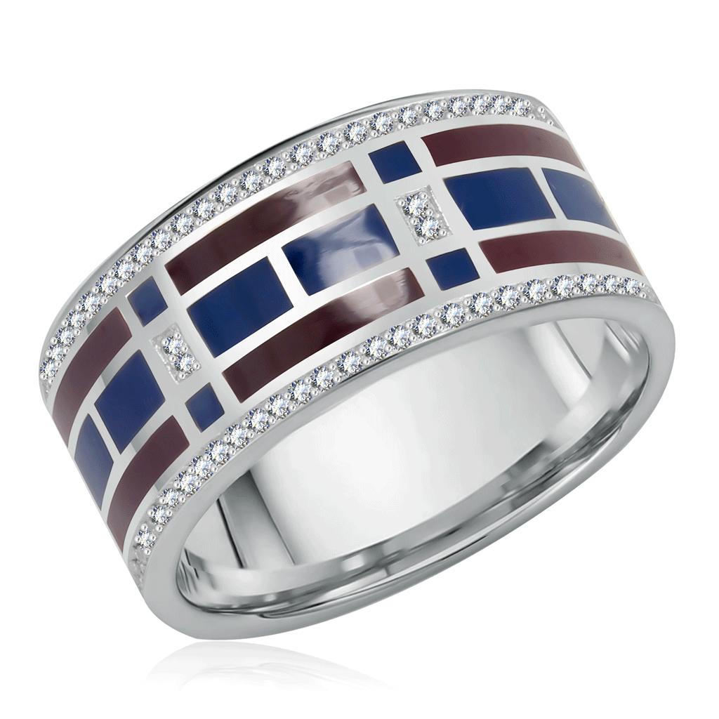 Кольцо из серебра 01-0253/ЭМ15-00