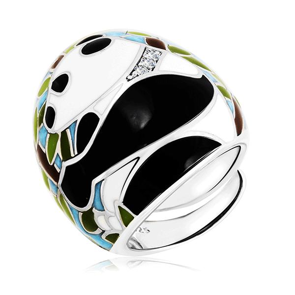Серебряное кольцо с эмалью и фианитами 21ZR6269(6504)n-104-100