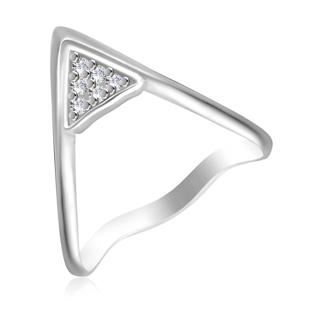 Кольцо из серебра 85611051Кольца из серебра<br>Артикул: 85611051 Металл: Серебро Ag 925 Вставка: Фианит<br><br>Артикул: 85611051<br>Металл, проба: Серебро<br>Цвет металла: Родированный<br>Вставка: Фианит