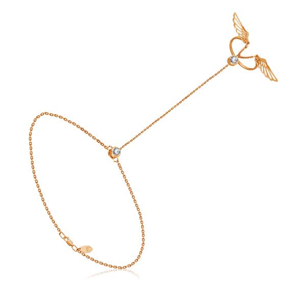 Слейв браслет из красного золота 050865