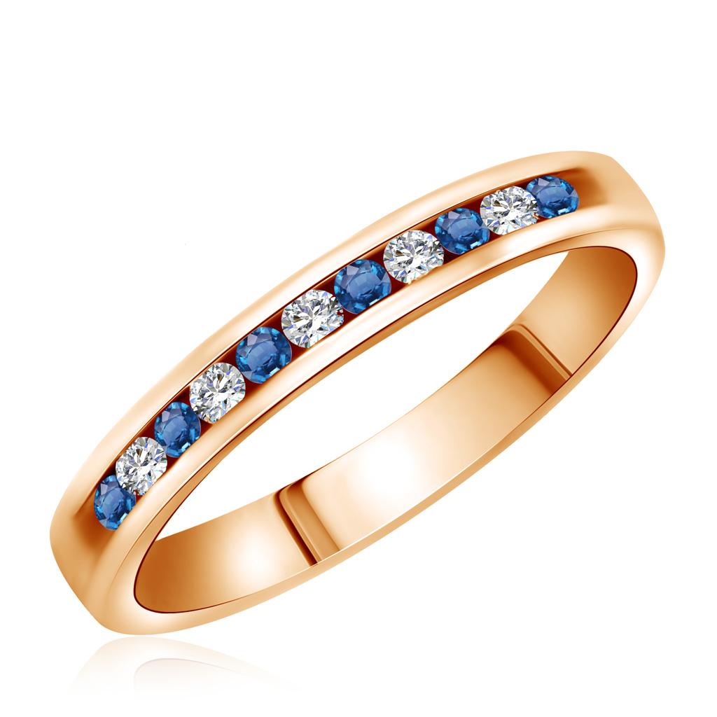 Кольцо из золота с сапфирами и бриллиантами 4C0101