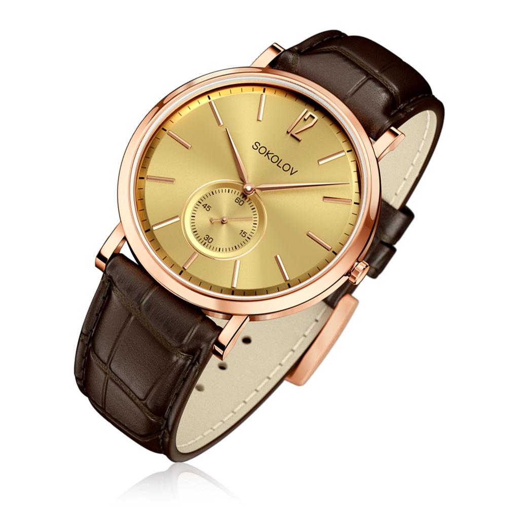Часы мужские SOKOLOV из золота 109.01.00.000.04.02.3