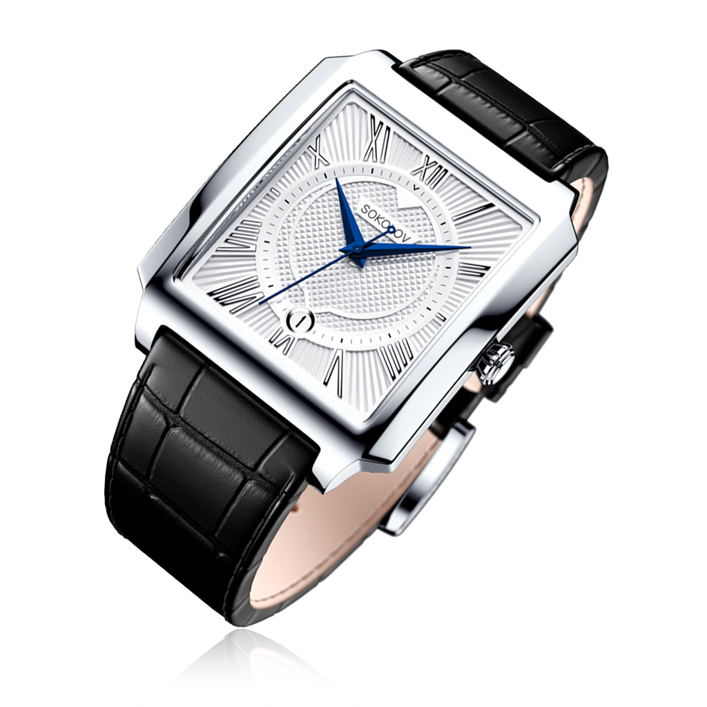 Часы мужские из серебра 134.30.00.000.01.01.3