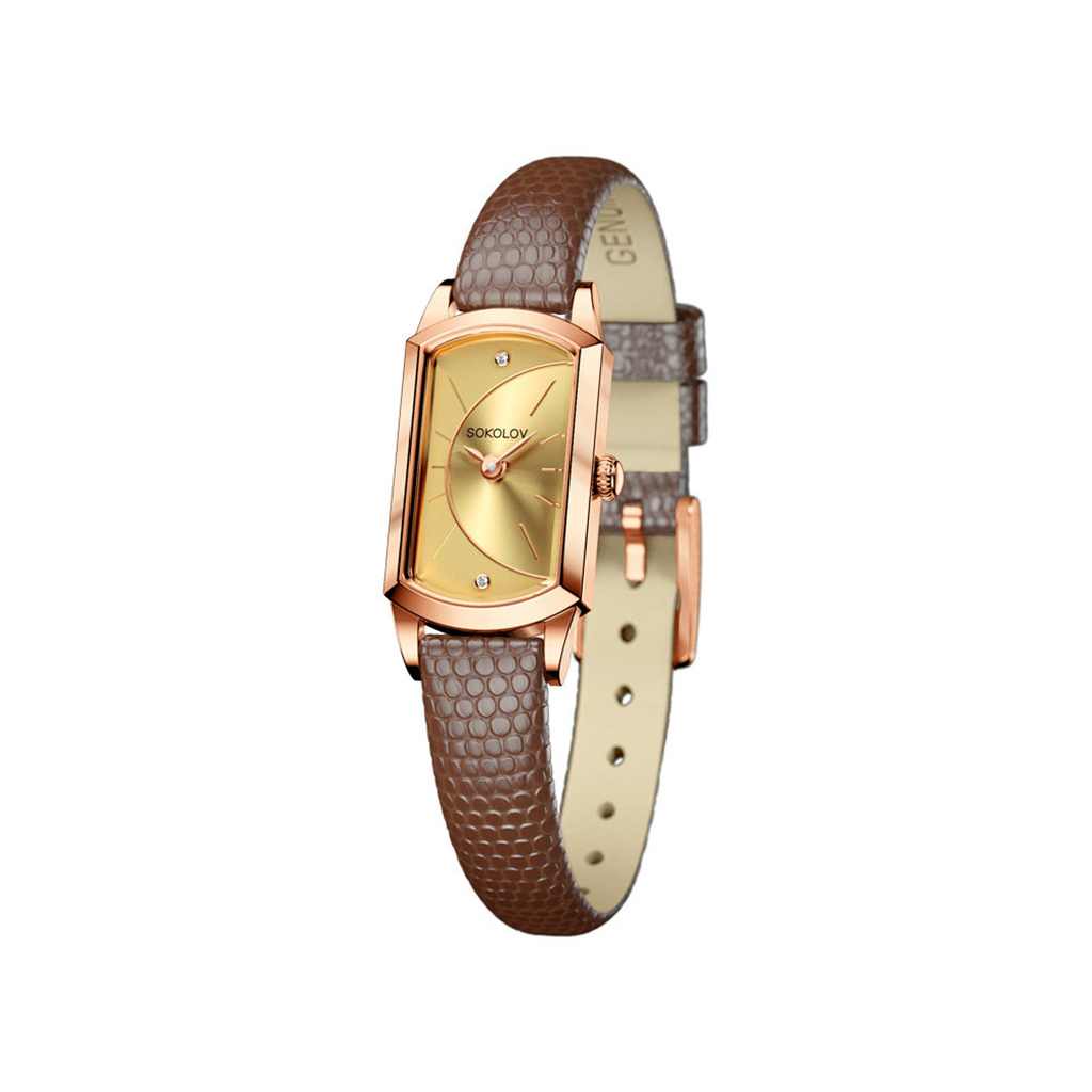 лучшая цена Часы женские из золота 221.01.00.000.05.03.3