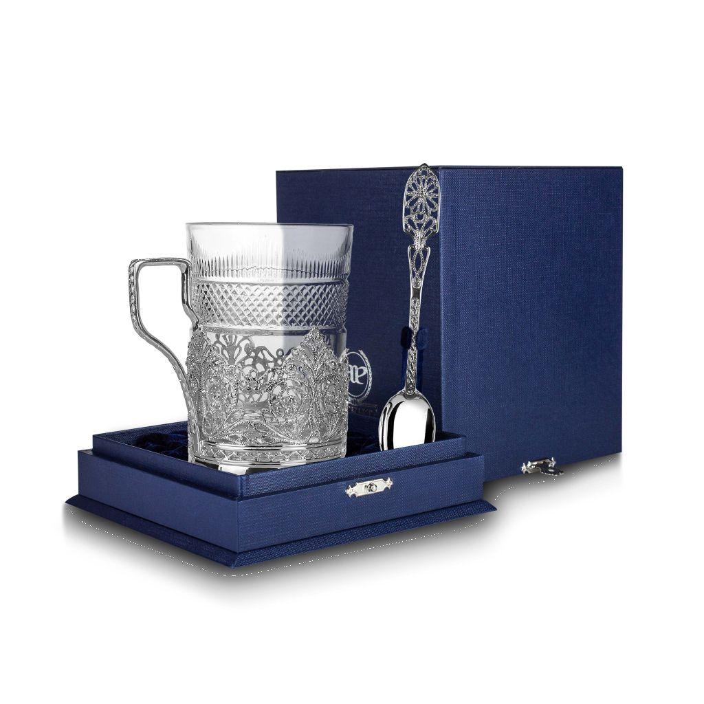 Серебряный набор для чая «Скань» 840НБ03801