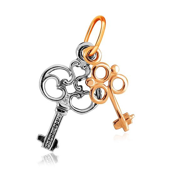 Золотая подвеска Ключ 27010979000