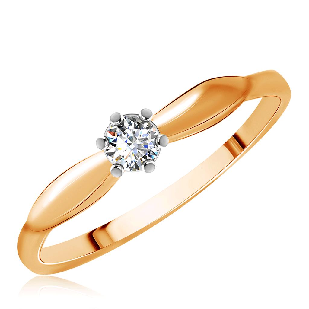 Золотое кольцо 585 пробы с фианитом Д0268-016538