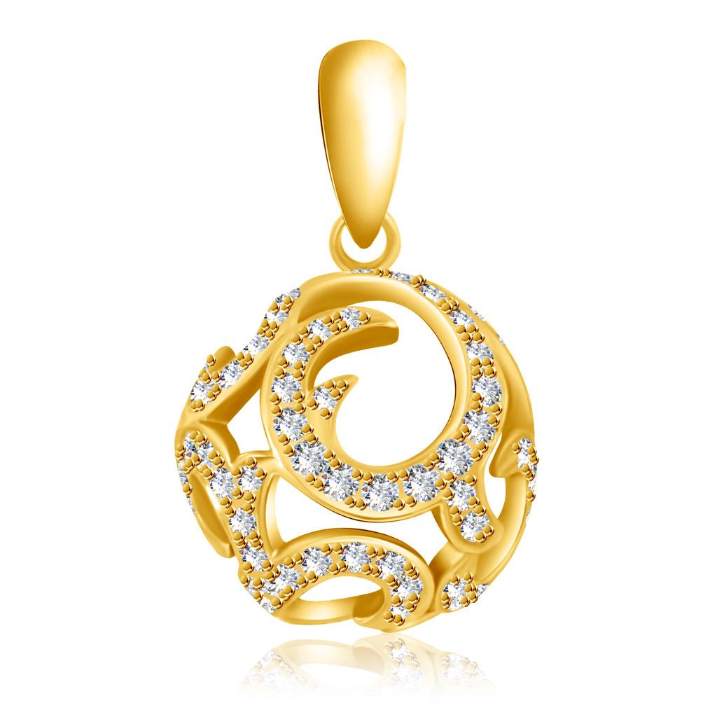 Подвеска из золота HOP32987Подвески из желтого золота<br>Артикул: HOP32987 Металл: Золото Au 585 Вставка: Бриллиант<br><br>Артикул: HOP32987<br>Металл, проба: Золото<br>Цвет металла: Желтый<br>Вставка: Бриллиант