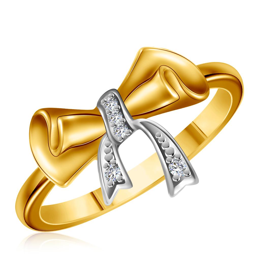 Купить со скидкой Золотое кольцо с бриллиантами R02-D-LR29871-1