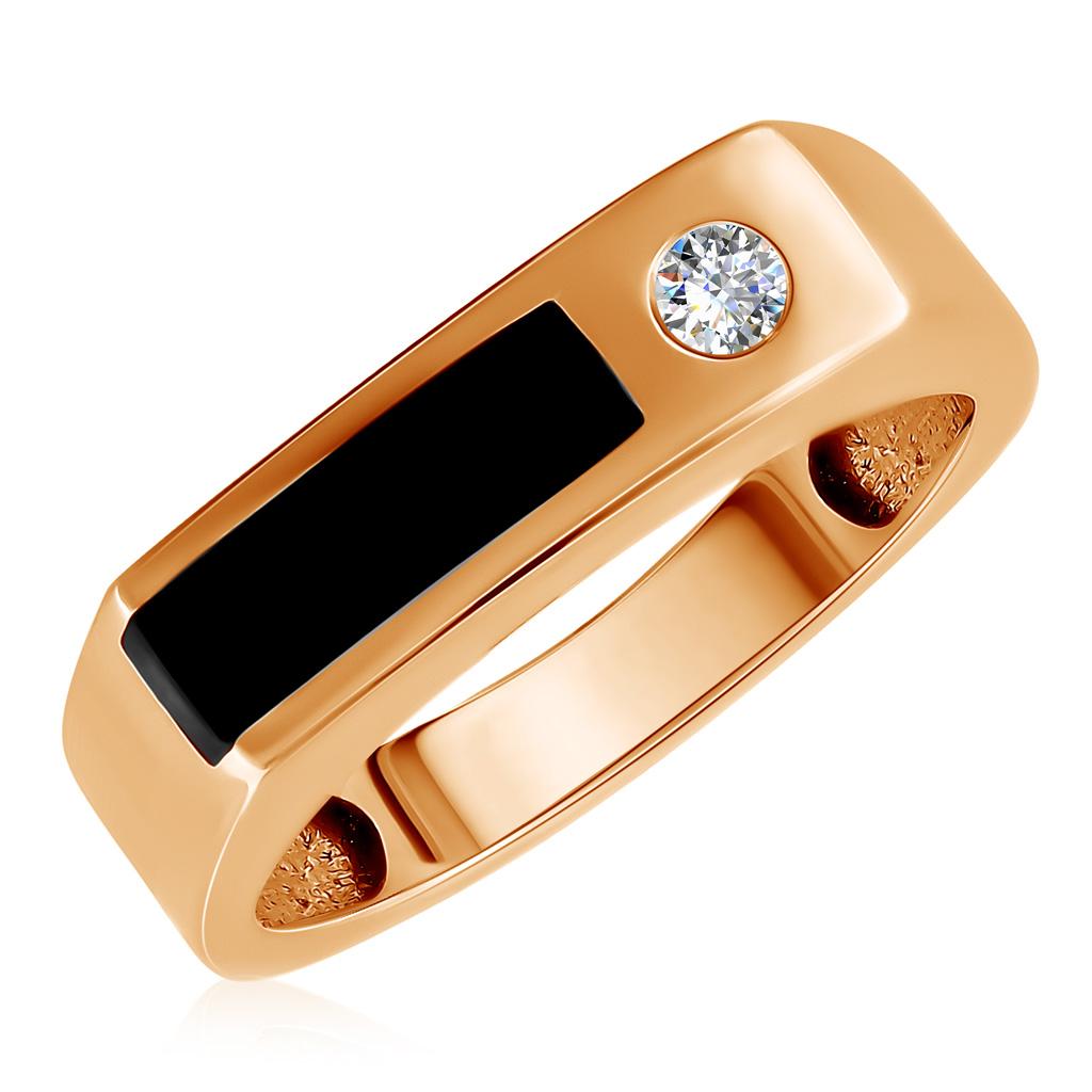 Золотая мужская печатка 01Т415225