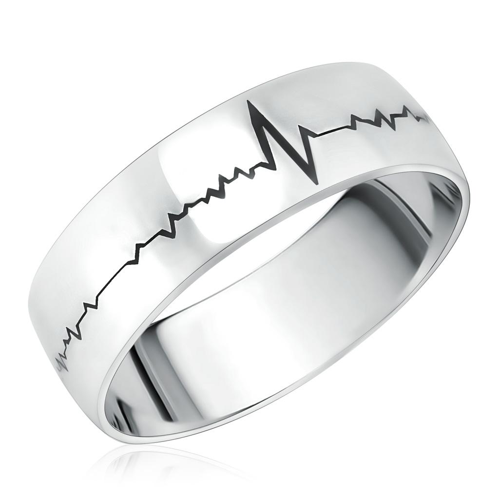 Кольцо мужское из серебра 75610016