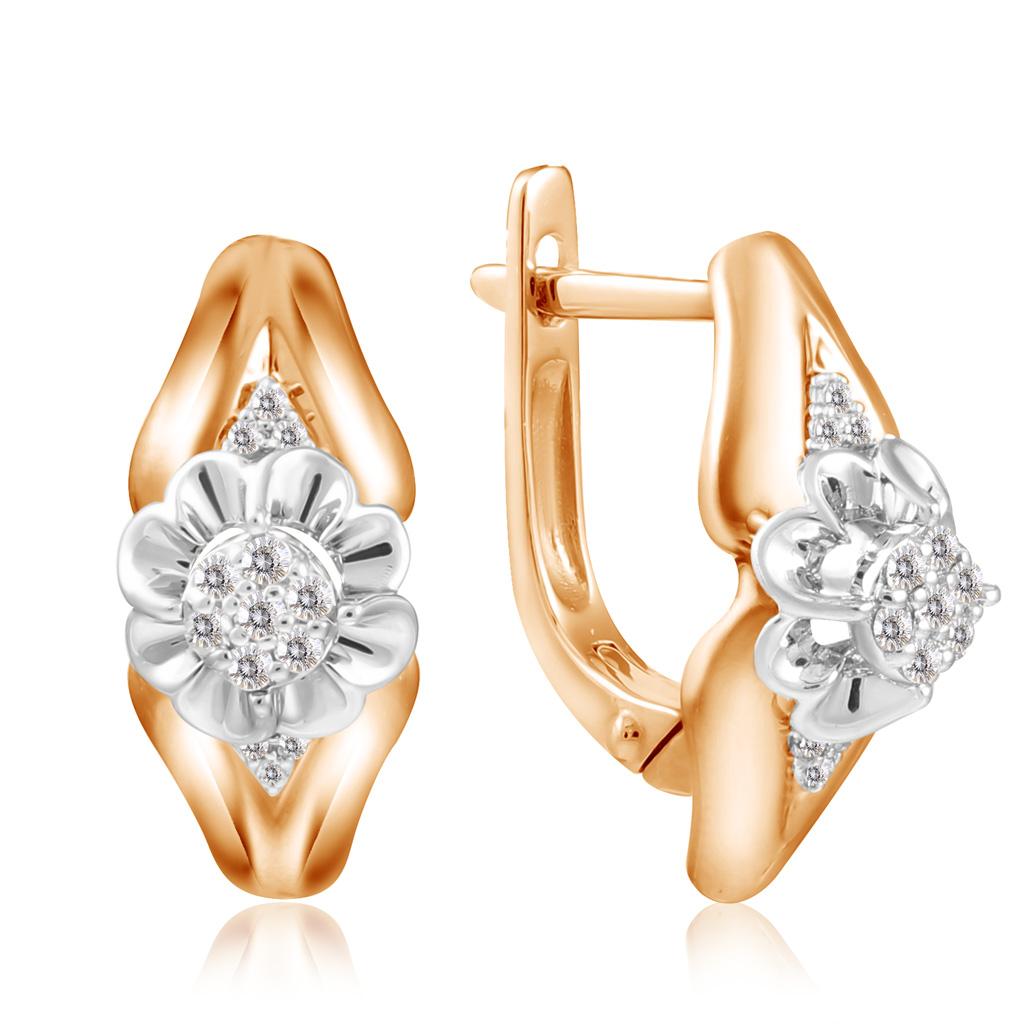 Серьги из золота E01-D-E59503 серьги лукас золотые серьги с бриллиантами и изумрудами e01 d 33607 embe3